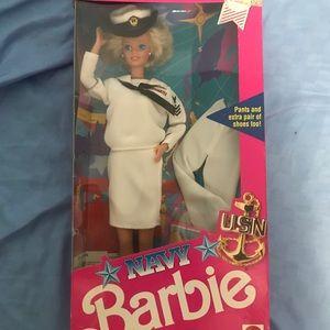 NWT 1991 Navy Barbie